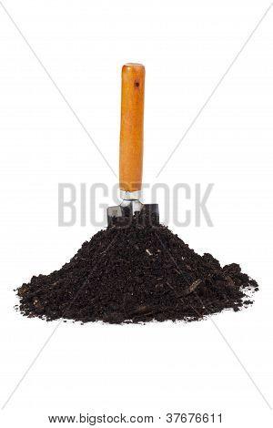 Garden Shovel And Soil