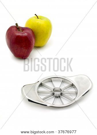Two Apples And A Slicer