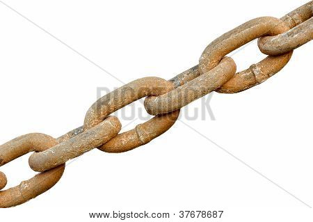 Chain Links Isolated On White