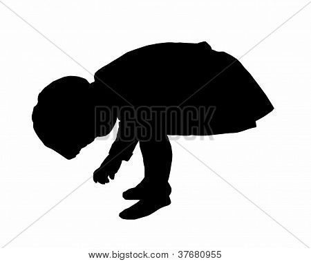 silhouette of child