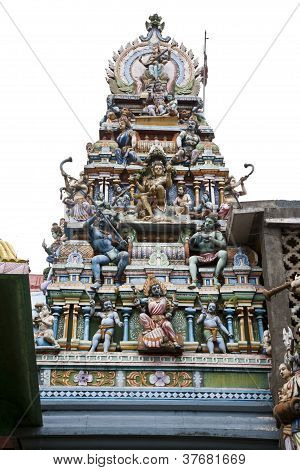 god statue at hindu temple