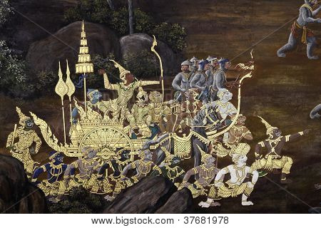 traditional thai art painting