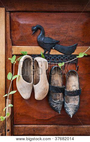 Decorative wooden Clogs