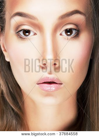 Stylized Portrait Of  Beauty Young Adult Classic Woman