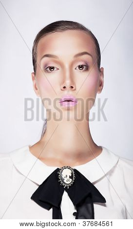 Strict Businesswoman Portrait - Young Arrogant Female
