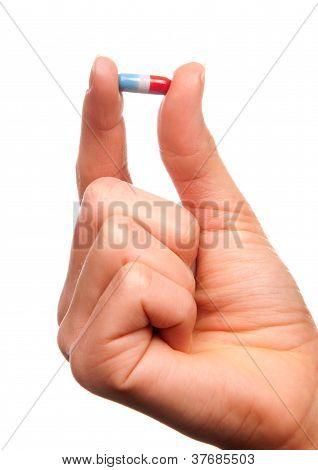 Painkiller Pill In Hand