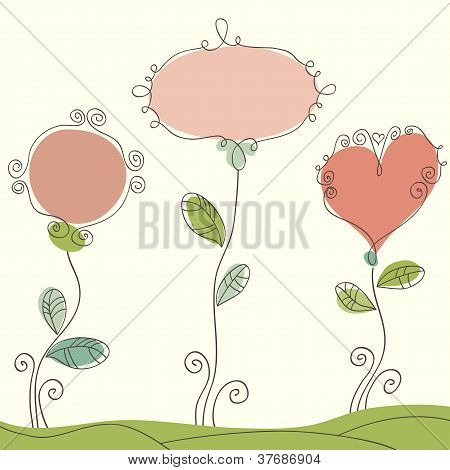 Nice doodle romantic background