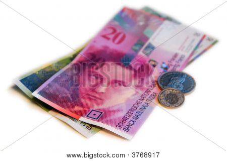 Swiss Franc (Chf) On White