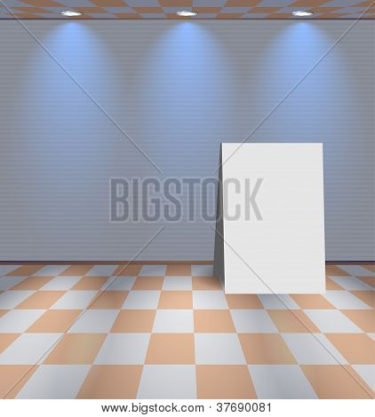 White Room With Ad Board