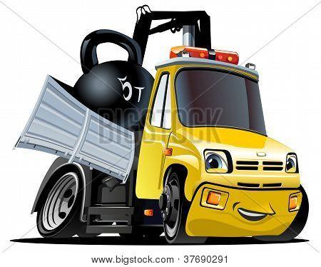 Vector Cartoon Tow Truck