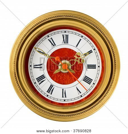 Dial Of Analog Watch Gold Ornament