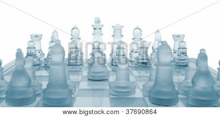 Glass Chess. The First Move.