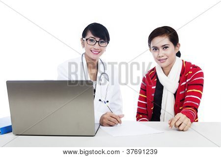 Doctor And Patient Interaction Using Laptop