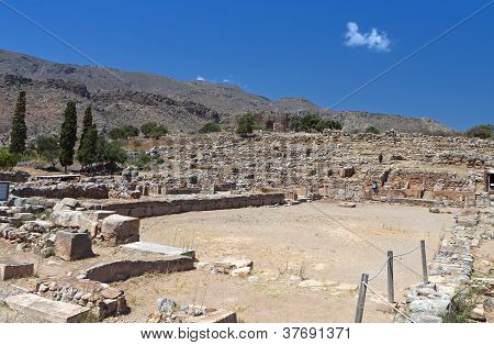 Ancient Zakros at Crete island in Greece