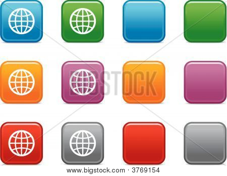 Color Buttons With Planet Icon