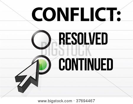 Conflict Continues Question And Answer Selection