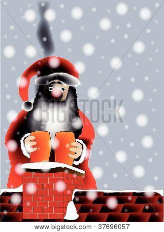 Sooty Santa.