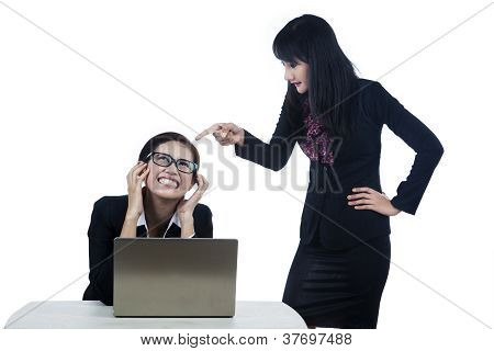 Bitchy Boss Isolated In White