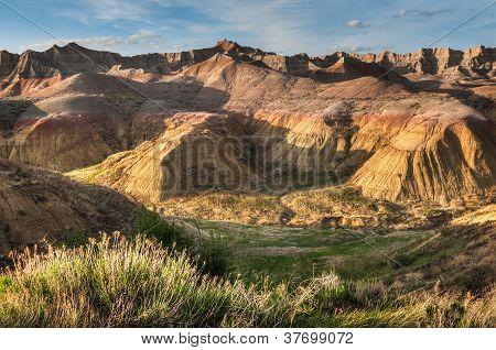 Amarillo montículos - el Parque Nacional Badlands