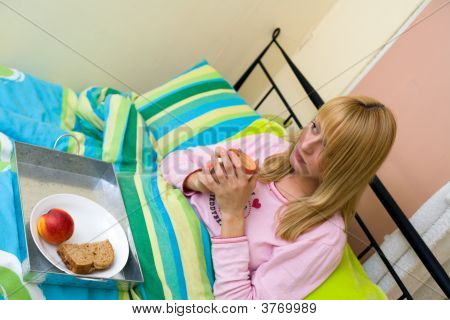 Breakfast In Bed Seen From A High View