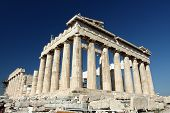 stock photo of parthenon  - Parthenon in Acropolis Athens Greece over the sky