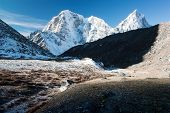 Mt Cholatse, Tabuche peak and Arakam Tse