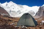 stock photo of cho-cho  - camping under cho oyu  - JPG