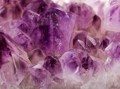 foto of gem  - Natural Amethyst crystal gem stone close - JPG