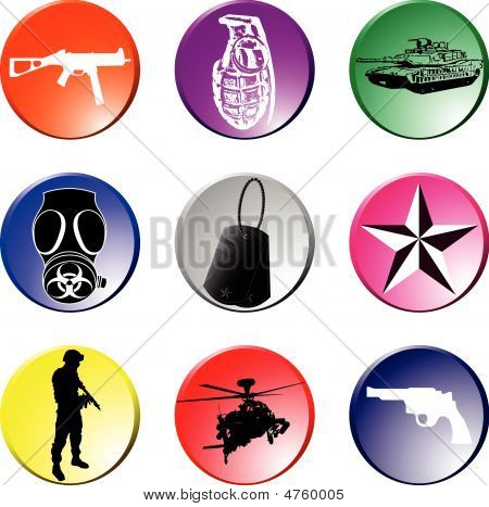 'elements Of War' Lapel Buttons