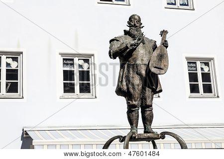 Kaspar Tiefenbrucker Statue In Fuessen