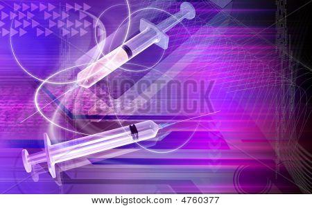 Syringe And Box