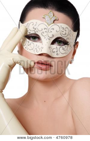 Girl In Venetian Mask