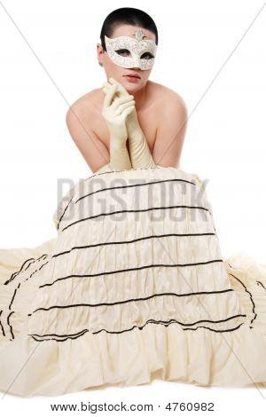 Girl In Venetian Mask