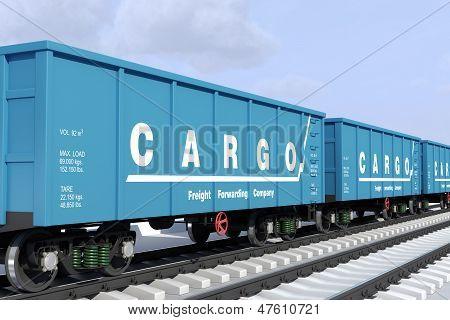 Serviços de encaminhamento de frete. Nos vagões de transporte