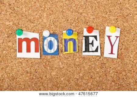 The word Money