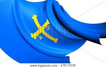 Principality Of Asturias Flag, Spain.
