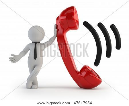 3D Small People - Telephone Receiver