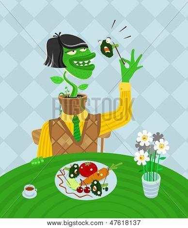 Vegetarian parody