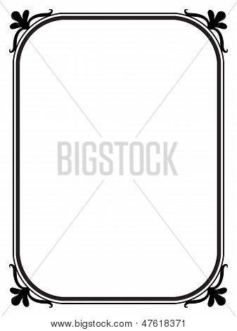 marco decorativo ornamental negro simple