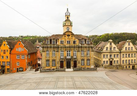 Painted Houses In Schwabisch Hall Germany