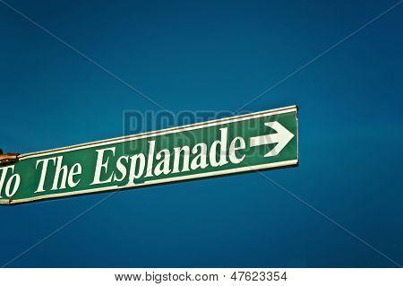 to the esplanade
