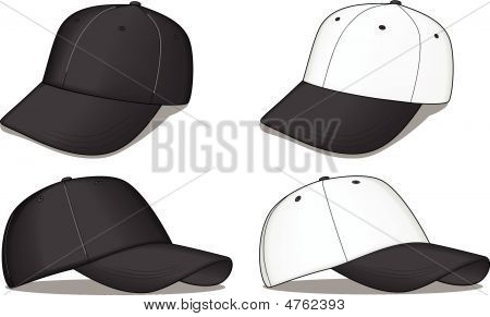 Black And White Baseball Caps