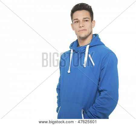Portrait Of Young Man On White Background