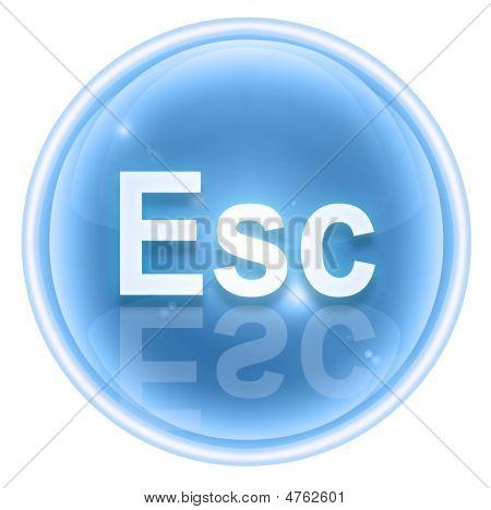 Esc Icon Ice, Isolated On White Background