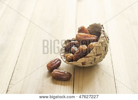 Traditional bowl of arabic dates