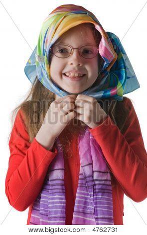 Portrait Of Little Smiling Girl