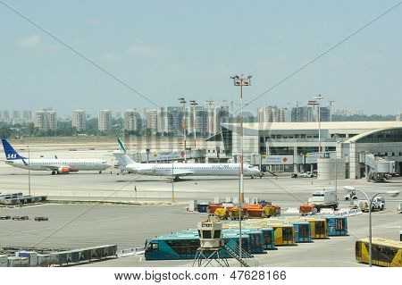 Terminal Number 3 Of International Airport Ben-gurion In Tel-aviv, Israel