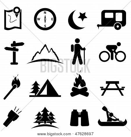 Camping Icon-Set