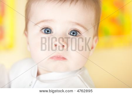 Portrait Of Pretty Blue-eyes Baby