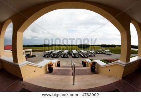Golf Carts In A Cancun Resort